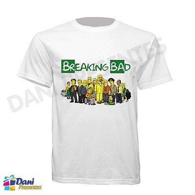 Camiseta Os Simpsons em Breaking Bad - 100% Algodão