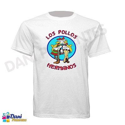 Camiseta Breaking Bad - Los Pollos Hermanos - 100% Algodão