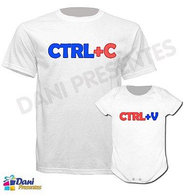 Camiseta CTRL+C, CTRL+V - 100% algodão