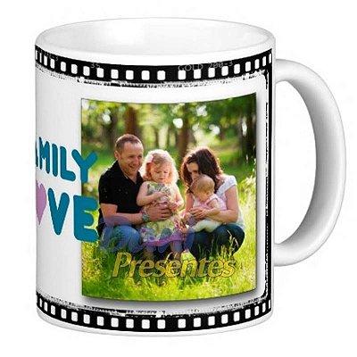 Caneca Personalizada com Foto - Família