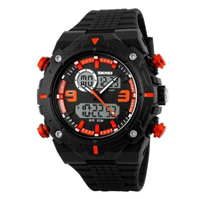 Relógio Masculino Skmei Anadigi 1156 PT-LR