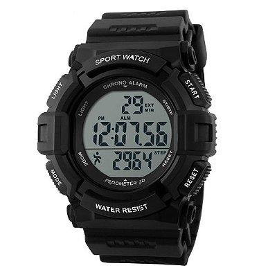 Relógio Pedômetro Masculino Skmei Digital 1116 Preto