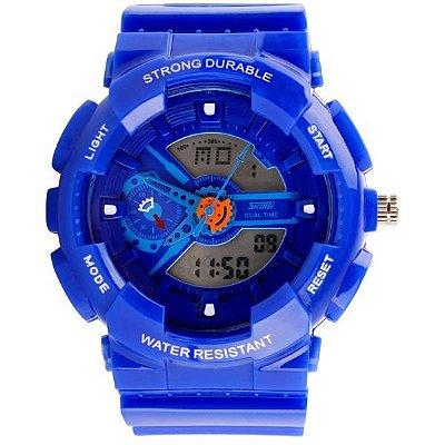 Relógio Masculino Skmei Anadigi 0929 Azul