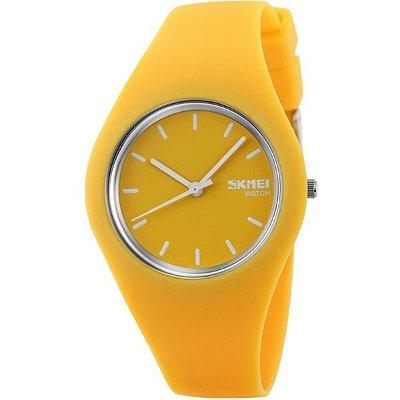 Relógio Feminino Skmei Analógico 9068 Amarelo