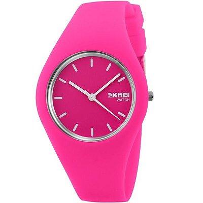 Relógio Feminino Skmei Analógico 9068 Pink