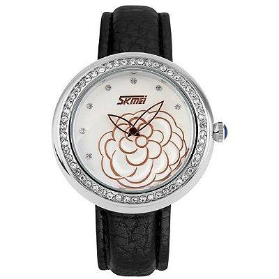 Relógio Feminino Skmei Analógico 9087 PT-PR