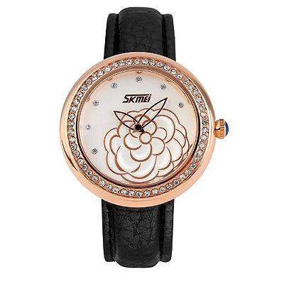 Relógio Feminino Skmei Analógico 9087 PT-OU