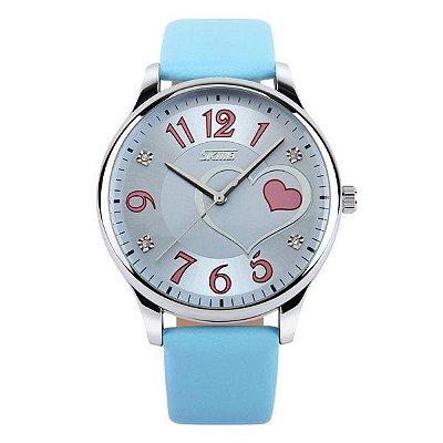 Relógio Feminino Skmei Analógico 9085 Azul