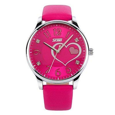 Relógio Feminino Skmei Analógico 9085 Pink