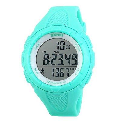 Relógio Pedômetro Feminino Skmei Digital 1108 Verde