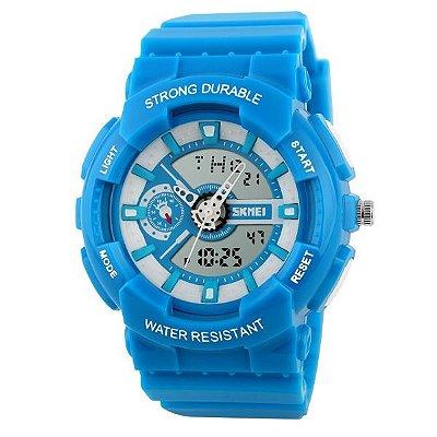 Relógio Infantil Skmei Anadigi 1052 Azul