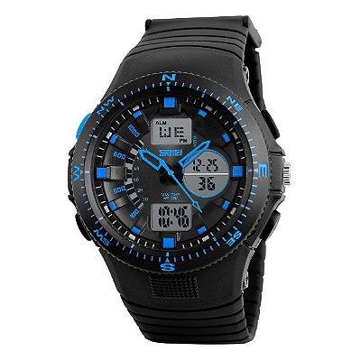 Relógio Masculino Skmei Anadigi 1198 Azul