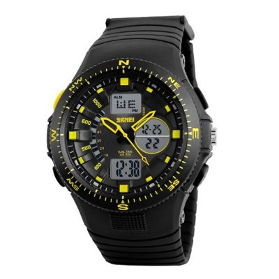 Relógio Masculino Skmei Anadigi 1198 Amarelo
