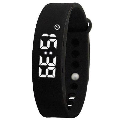 Relógio Pedômetro Masculino Skmei Digital Smart W05 Preto