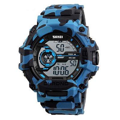 Relógio Masculino Skmei Digital 1233 Azul e Preto