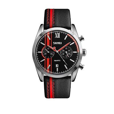 Relógio Masculino Skmei Analógico 9148 Vermelho