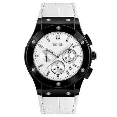 Relógio Masculino Skmei Analógico 9157 - Preto e Branco