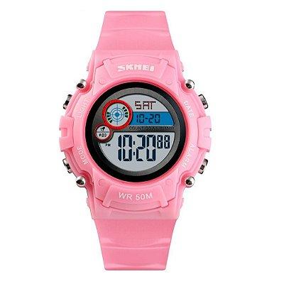 Relógio Infantil Skmei Digital 1477 Rosa
