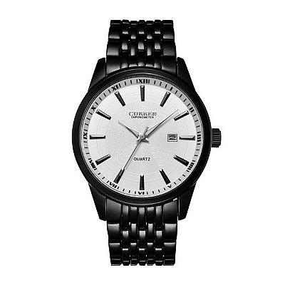 Relógio Masculino Curren Analógico 8052 Preto e Branco