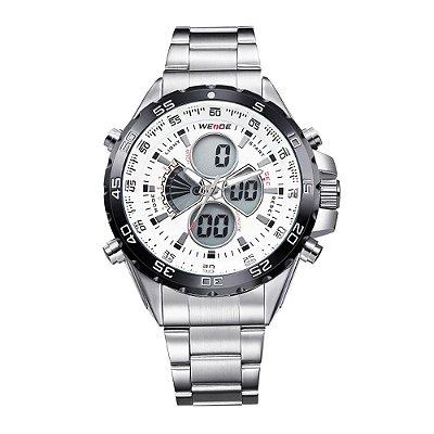 Relógio Masculino Weide Anadigi WH-1103 Branco