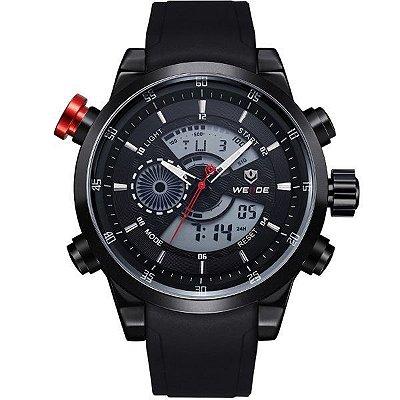 Relógio Masculino Weide Anadigi WH-3401 Preto e Branco