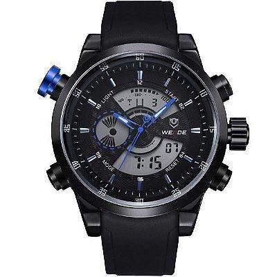Relógio Masculino Weide AnaDigi WH-3401 - Preto e Azul