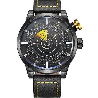Relógio Masculino Weide Analógico WH-5201 Preto e Amarelo