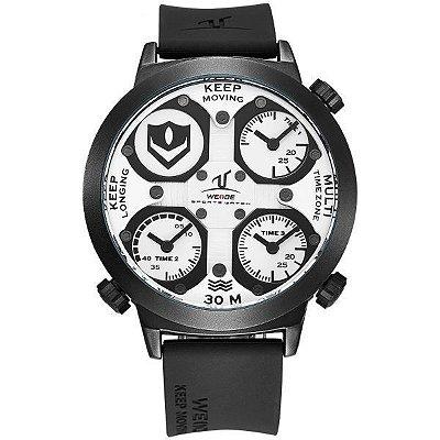 Relógio Masculino Weide Analógico UV-1503 Preto e Branco