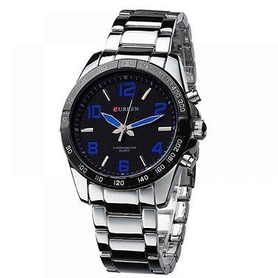 Relógio Masculino Curren Analógico Casual 8107 Azul