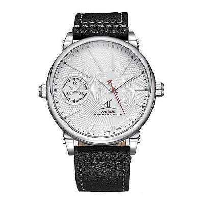 Relógio Masculino Weide Analógico UV-1508 Branco e Prata