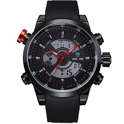 Relógio Masculino Anadigi Weide WH-3401 Preto