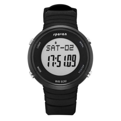 Relógio Masculino Spovan Digital SPV900L Preto