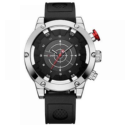 Relógio Masculino Weide Anadigi WH6301 Preto e Prata