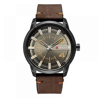 Relógio Masculino Curren Analógico 8306 - Preto e Marrom