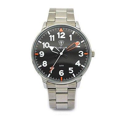 Relógio Masculino Tuguir Analógico 5022 Prata e Preto