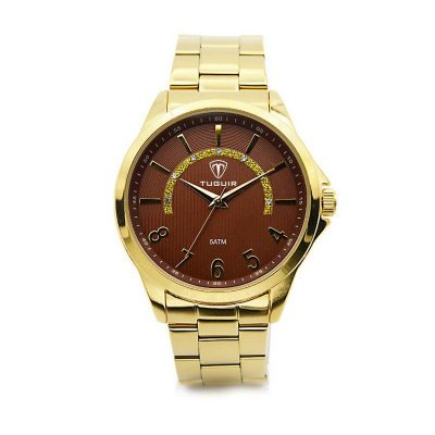 Relógio Unissex Tuguir Analógico 5021 - Dourado