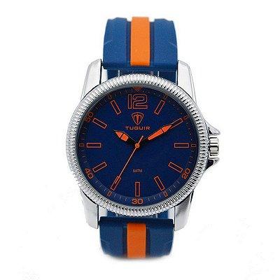 Relógio Masculino Tuguir Analógico 5017 Azul e Laranja