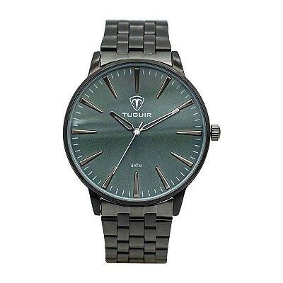 Relógio Masculino Tuguir Analógico 5273G - Preto e Verde