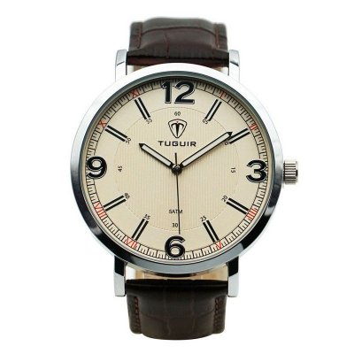 Relógio Masculino Tuguir Analógico 5444G Prata e Marrom