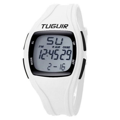 Relógio Pedômetro Masculino Tuguir Digital TG1801 - Branco
