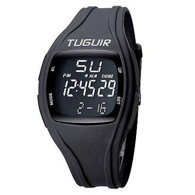 Relógio Masculino Tuguir Digital TG1801 - Preto e Preto