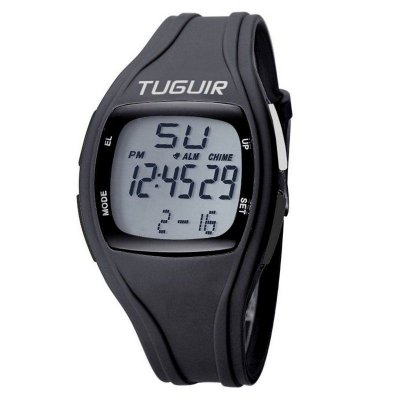 Relógio Pedômetro Masculino Tuguir Digital TG1801 - Preto