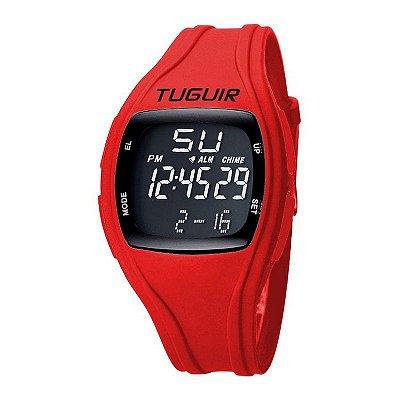 Relógio Feminino Tuguir Digital TG1801 - Vermelho e Preto