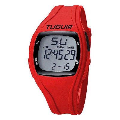 Relógio Feminino Tuguir Digital TG1801 - Vermelho