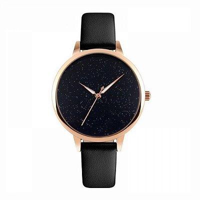 Relógio Feminino Skmei Analógico 9141 Preto e Rose
