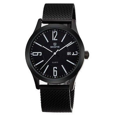 Relógio Masculino Skone Analógico 7347BG Branco
