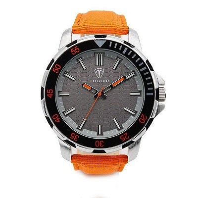 Relógio Masculino Tuguir Analógico 5012 Laranja