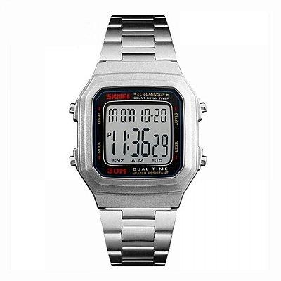 Relógio Masculino Skmei Digital 1337 - Prata