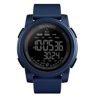 Relógio Pedômetro Masculino Skmei Digital 1469 - Azul e Preto