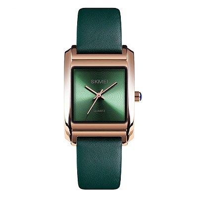Relógio Feminino Skmei Analógico 1432 - Verde e Rose